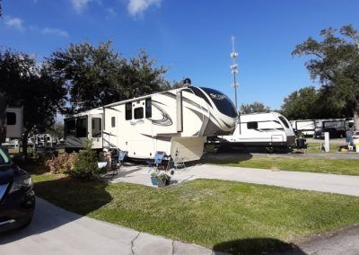 RVs parked at Port St Lucie RV Resort